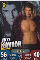 ㊣SUPER619㊣ WWE NXT 4/ 5 Lucky Cannon TOPPS Slam Attax Rumble Trading Card Game 摔角遊戲卡 ㊣超級619㊣