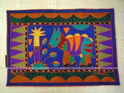 ☆MOOMBA☆ South Africa 南非 KAROSS 品牌 手工 繡花 動物 花卉 刺繡 厚 布質 餐墊 HAND EMBROIDER PADDED PLACEMATS #774