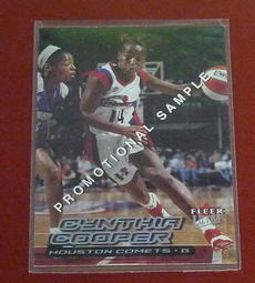 2000 WNBA Cynthia Cooper 樣品卡一張 Promotional Sample