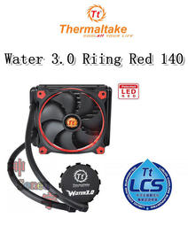 【神宇】曜越 Thermaltake Water 3.0 Riing Red 140 一體式水冷散熱排