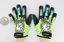 [安信騎士] ARAYI AGV式樣 彩繪手套 F-001 時鐘  短版 透氣 防曬 手套