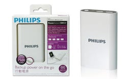 飛利浦 PHILIPS DLP7503 7500mAh 2.1A 輸出快充型行動電源