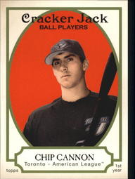2005 Topps Cracker Jack #218 Chip Cannon RC
