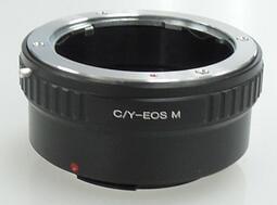 康泰時 Contax Yashica CY C/ Y鏡頭轉佳能Canon EOS M EF-M相機身轉接環 KIPON同功