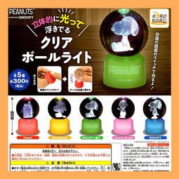 【NEG扭扭扭蛋】現貨 KOROKORO 史努比造型水晶燈球 史奴比 糊塗塌客 扭蛋 轉蛋 收藏 娛樂 全5種