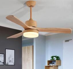 北歐吊扇燈餐廳簡約現代遙控美式歐式三葉客廳臥室電風扇吊燈燈