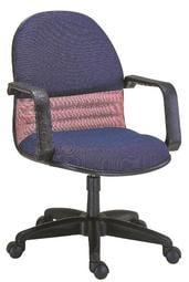 【南洋風休閒傢俱】時尚造型辦公椅系列-雙色扶手中轉椅 JX288-8