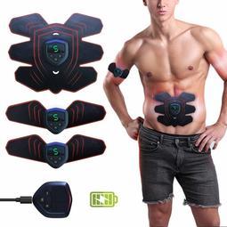 【2018極致版】ABS刺激器,腹部肌肉訓練儀,EMS腹肌訓練器EMS電肌肉刺激/身體雕塑師abS腰帶健身墊練習器腰帶脂