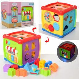 喜得玩具 探索學習六面體 0520 嬰兒積木盒 趣味智立方 音樂六面積木盒 智立方 配對積木盒 形狀配對 手眼協調
