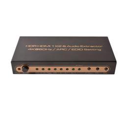 HDMI 2.0 1x2 Audio Extractor 音頻分離器