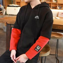 M-3XL 愛迪達 Adidas 三葉草 連帽T 三條杠 大學T連帽 長袖帽T 寬松 學生 長袖上衣連帽衛衣5113