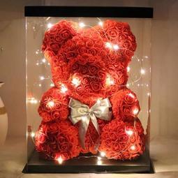 現貨聖誕促銷>> 浪漫 熊熊花 玫瑰 迷你熊 聖誕禮物 玫瑰熊 玫瑰花 永生花熊 永生花 情人節禮物 送禮 禮物
