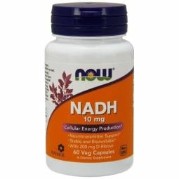 NADH with Ribose 60 Vcaps 10 mg by Now Foods
