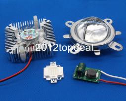 10W Royal blue 440-450nm High Power LED+10W Driver+44mm Lens+10w Heatsink kit