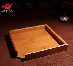 單層普洱茶盤竹制普洱茶盒 分茶盤 開茶盤 分茶盒 品茶盤碎茶盤 功夫茶具配件
