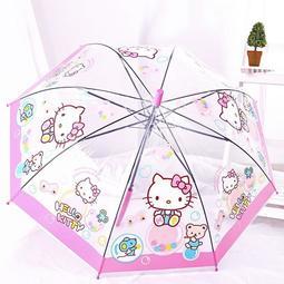 透明傘雨傘創意傘兒童傘小雨傘卡通傘kt貓傘寶寶hello kitty小傘