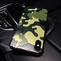*潮牌迷彩iphone8plus手機殼蘋果6plus磨砂浮雕軟殼7情侶款男X套6s