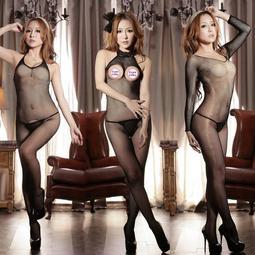 *性感連體網襪美女全身美腿襪超薄透明免脫情趣開襠騷黑色絲襪內衣