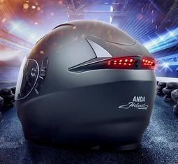 AD電動摩托車頭盔灰男女士全盔冬季四季通用全覆式機車跑盔個性酷安全帽