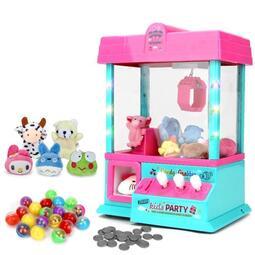 【行運精品】抓娃娃機兒童玩具迷你抓娃娃機夾公仔機投幣扭蛋機器小型鬧鐘遊戲機糖果機 【】
