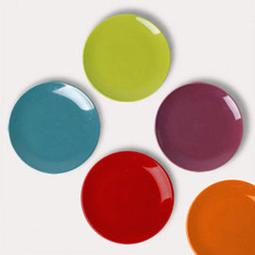 【原點居家】德國ASA精緻圓盤20cm 5色可選 陶瓷盤 小菜盤 點心盤水果盤 素瓷盤