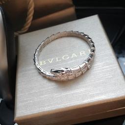 【TSG】代購正品 BVLGARL 蛇型鑽石手鐲