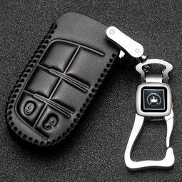 17款jeep指南者鑰匙套吉普自由光大切諾基自由俠純手縫真皮鑰匙包