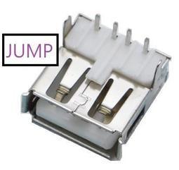 【JUMP542】USB母座 A型 90度 垂直 直腳 立式 直排針 插板式 DIY 接頭 充電器電源改裝必備件 母接頭