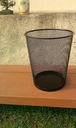 【MIT芳佳工廠直銷】工業風網狀垃圾桶(15公升)-黑色/回收桶/收納籃/紙簍/7-11取貨付