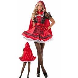 現貨女巫裝尾牙舞臺裝童話故事小紅帽女巫尾牙服裝女DS演出服派對