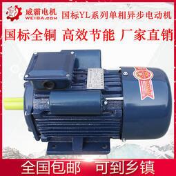 YL國標單相電動機220v全銅1.5/ 2.2/ 3/ 4/ 4.5kw兩相家用大馬力電機