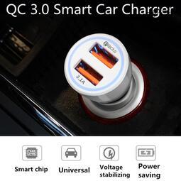 Lilyscent(eBay爆款,價格優勢)6A QC 3.0 光環車充雙USB線路QC3.0+3.1A車載充電器點煙器