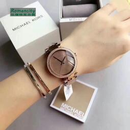 折扣小鋪現貨【Michael Kors】手錶MK6426魅力時尚薄型晶鑽珍珠貝錶面不銹鋼錶帶腕錶女錶39mm 手錶