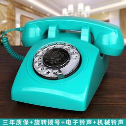 無線插卡電話機座機電信移動聯通復古仿古電話機歐式旋轉家用固話  露天拍賣