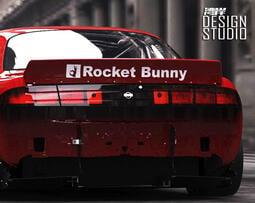 最速灣岸寬體改裝貼紙火箭兔子Rocket車貼改裝標誌86改裝