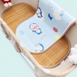 《 Language 》千語  寶寶搖藍床涼席雙面竹席嬰兒吊床冰絲席電動搖籃席子推車涼席定做 速出